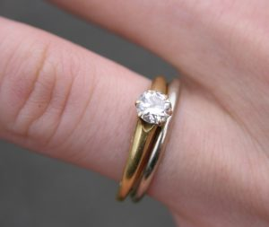 Wedding and engagement rings.
